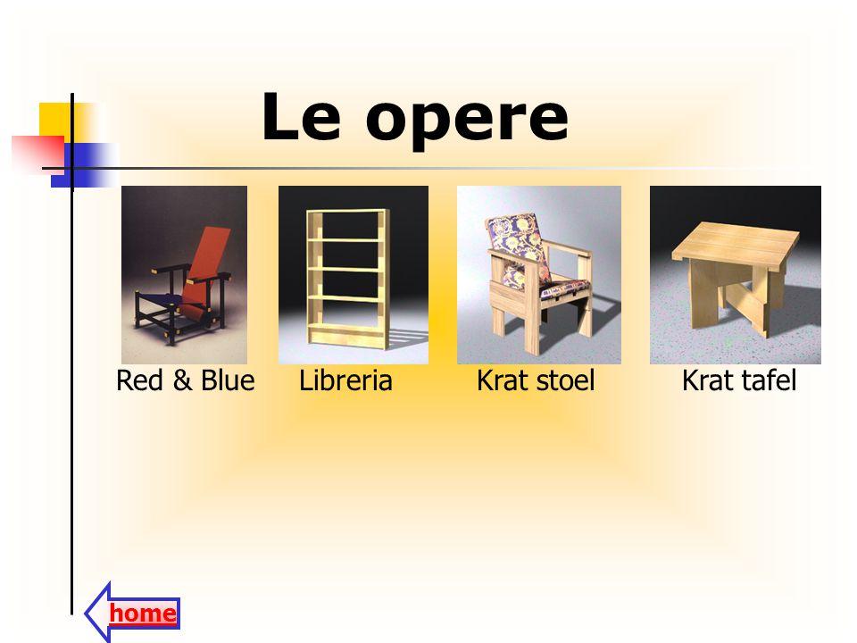 Le opere Red & BlueLibreriaKrat stoelKrat tafel