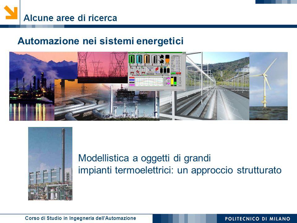 Corso di Studio in Ingegneria dell'Automazione Alcune aree di ricerca Automazione nei sistemi energetici Modellistica a oggetti di grandi impianti ter