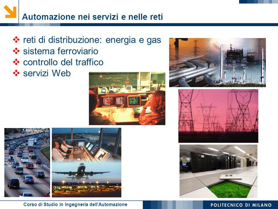 Corso di Studio in Ingegneria dell'Automazione  reti di distribuzione: energia e gas  sistema ferroviario  controllo del traffico  servizi Web Aut