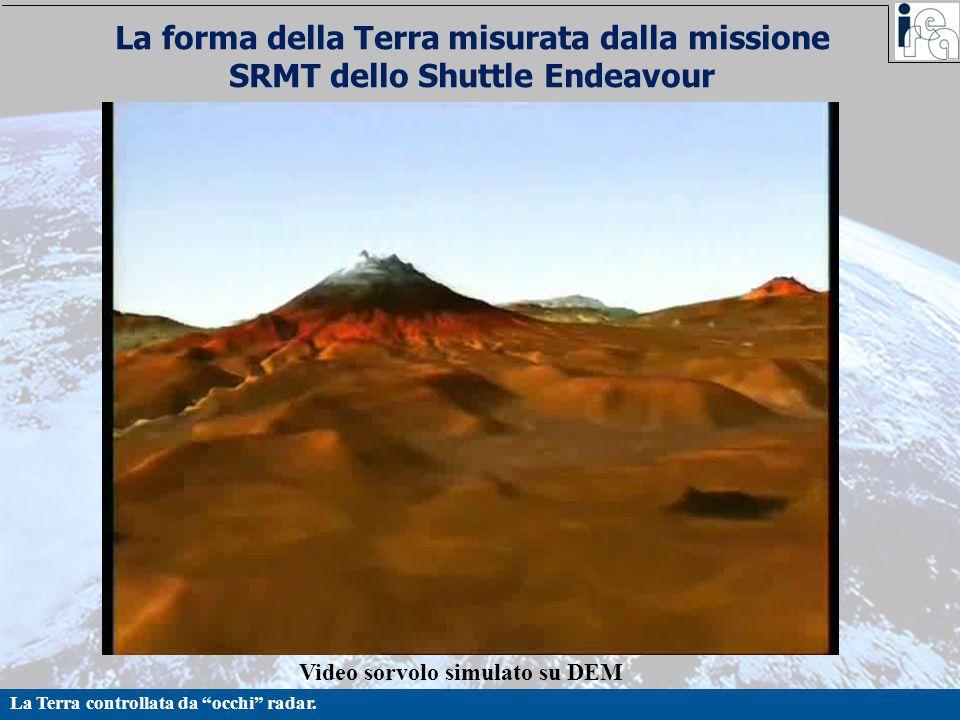 """La Terra controllata da """"occhi"""" radar. La forma della Terra misurata dalla missione SRMT dello Shuttle Endeavour Video sorvolo simulato su DEM"""