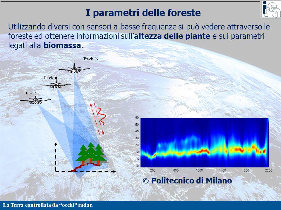 """La Terra controllata da """"occhi"""" radar. I parametri delle foreste Utilizzando diversi con sensori a basse frequenze si può vedere attraverso le foreste"""