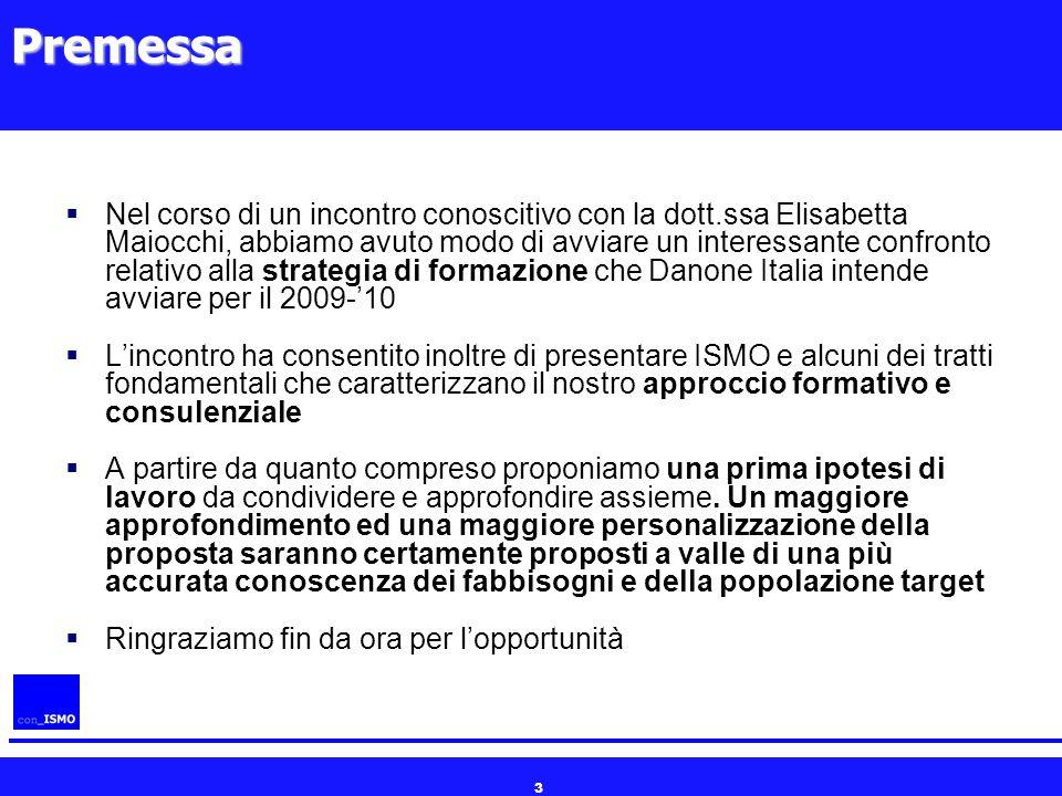 3Premessa  Nel corso di un incontro conoscitivo con la dott.ssa Elisabetta Maiocchi, abbiamo avuto modo di avviare un interessante confronto relativo