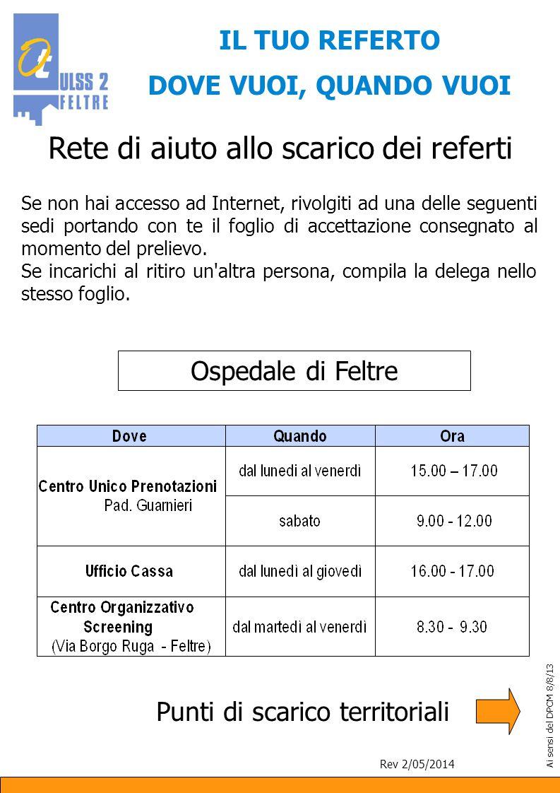 Per informazioni o assistenza: Ufficio relazioni con il pubblico: tel.