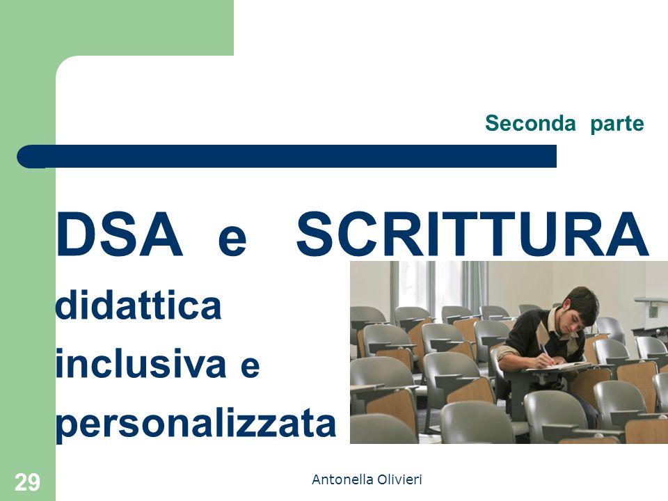 Antonella Olivieri Seconda parte DSA e SCRITTURA didattica inclusiva e personalizzata 29