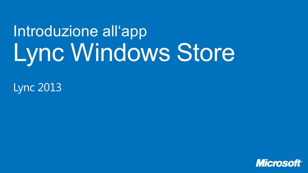 next avantiindietro App Lync Windows Store Di cosa si tratta.