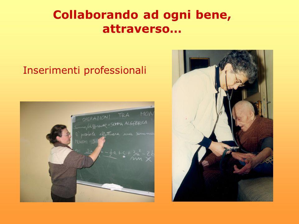 Collaborando ad ogni bene, attraverso… Inserimenti professionali