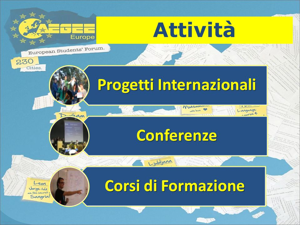 Attività Summer Universities Local Events Eventi Statutari Agorae European Boards' Meeting Network Meetings