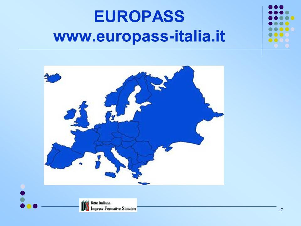 16 DIMENSIONE INTERNAZIONALE Il Consiglio europeo di Lisbona ha conferito mandato al Consiglio dell'Istruzione della Commissione europea per: una rifl