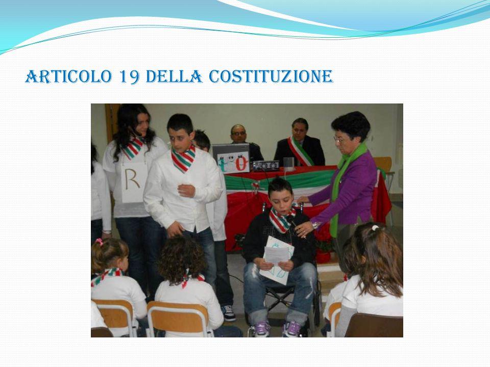 ARTICOLO 19 DELLA COSTITUZIONE