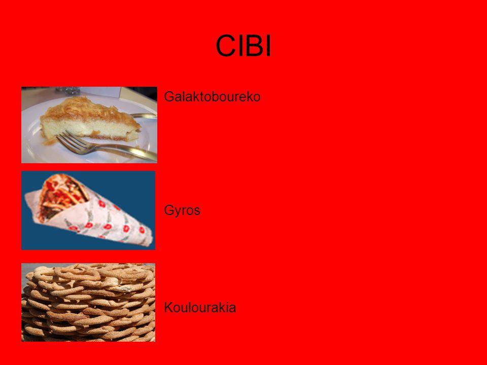 CIBI Galaktoboureko Gyros Koulourakia