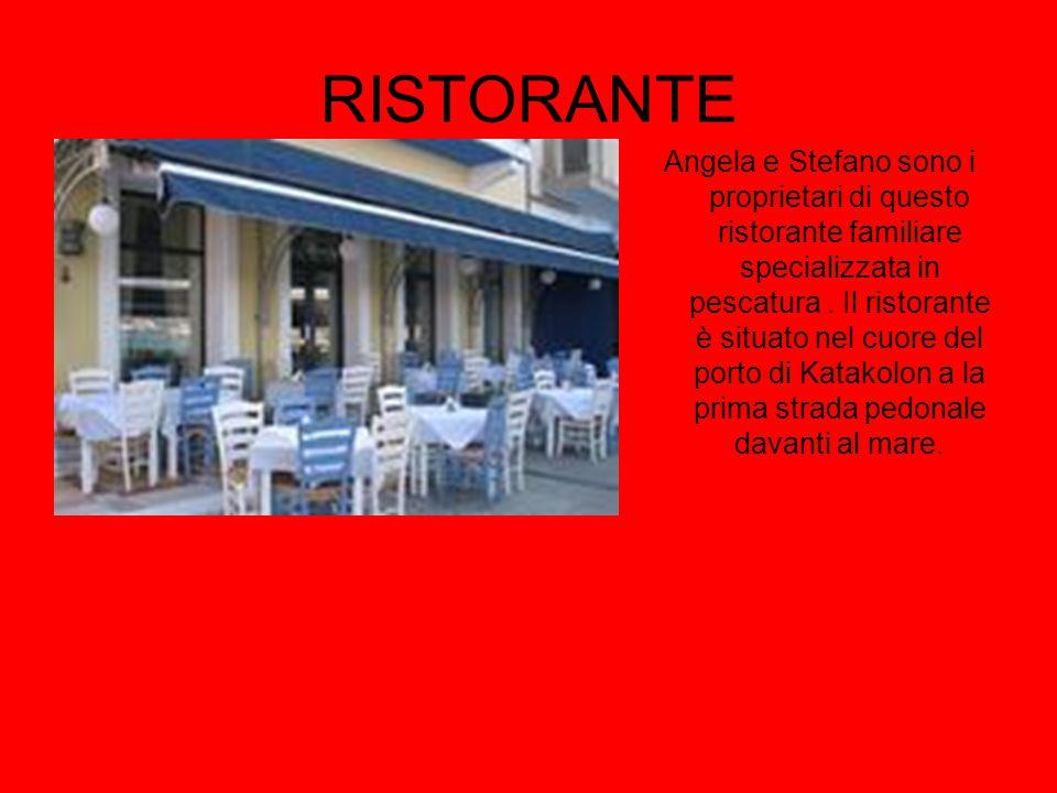 RISTORANTE Angela e Stefano sono i proprietari di questo ristorante familiare specializzata in pescatura. Il ristorante è situato nel cuore del porto