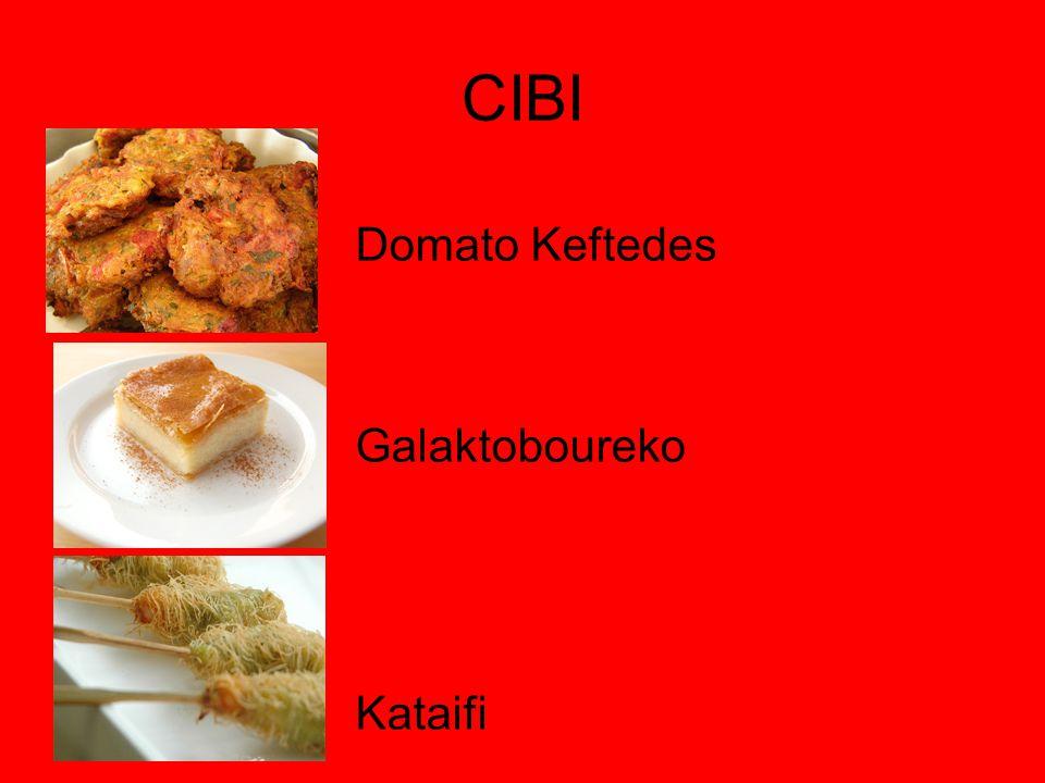 CIBI Domato Keftedes Galaktoboureko Kataifi