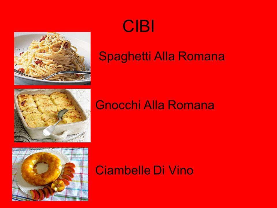 CIBI Spaghetti Alla Romana Gnocchi Alla Romana Ciambelle Di Vino