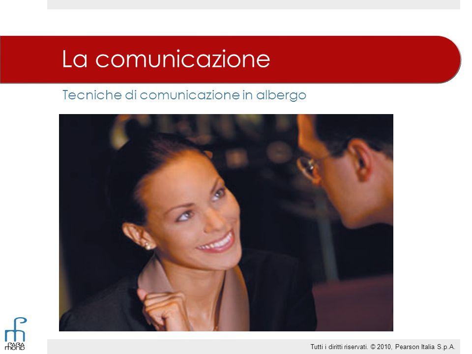 Tecniche di comunicazione in albergo La comunicazione Tutti i diritti riservati.
