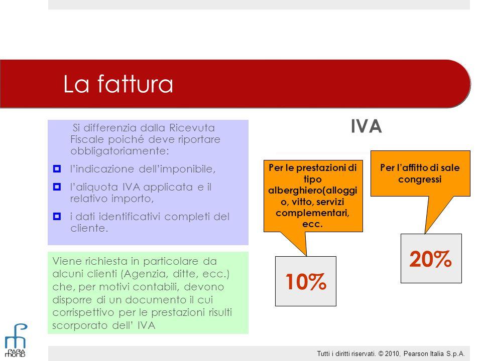 La fattura Si differenzia dalla Ricevuta Fiscale poiché deve riportare obbligatoriamente:  l'indicazione dell'imponibile,  l'aliquota IVA applicata