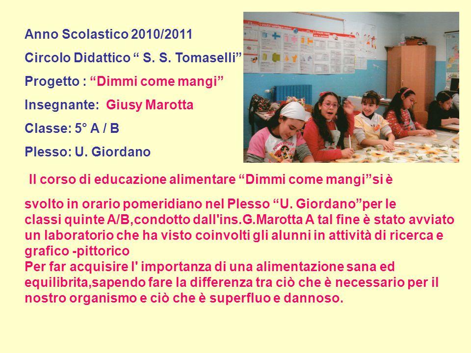 Anno Scolastico 2010/2011 Circolo Didattico S. S.