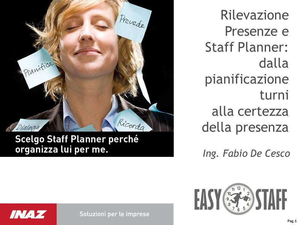 Rilevazione presenze e Staff Planner: dalla pianificazione turni alla certezza della presenza La gestione dei turni: le variabili in gioco I DATI INIZIALIREGOLE DEL PIANO Pag.2