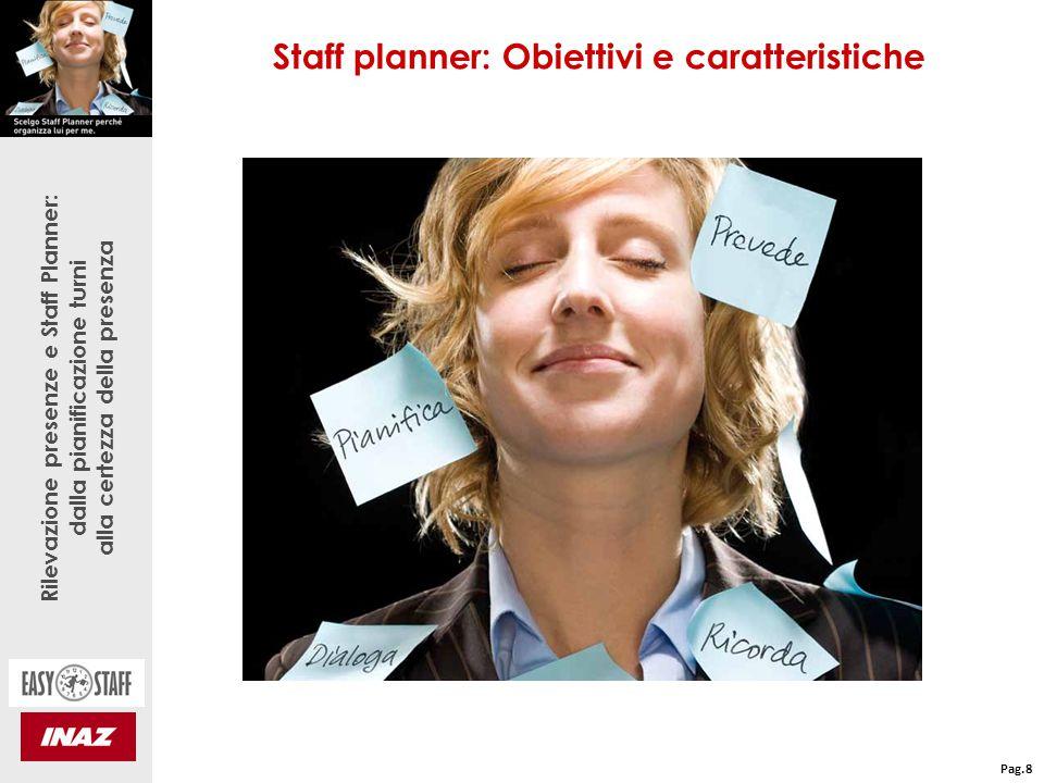 Rilevazione presenze e Staff Planner: dalla pianificazione turni alla certezza della presenza Staff Planner: Regole del calcolo gestite Pag.9 ABILITA': l'operatore ricopre sempre una mansione per cui risulta abile.