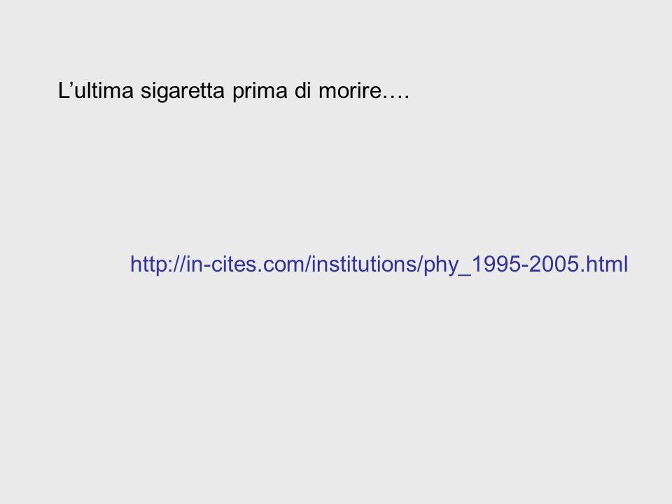L'ultima sigaretta prima di morire…. http://in-cites.com/institutions/phy_1995-2005.html