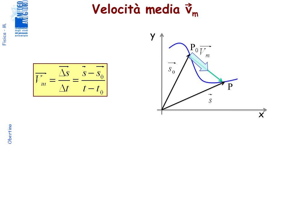 Fisica - M. Obertino Velocità media v m x y P0P0 P