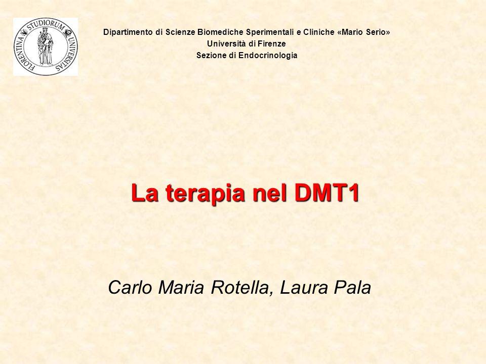Carlo Maria Rotella, Laura Pala La terapia nel DMT1 Dipartimento di Scienze Biomediche Sperimentali e Cliniche «Mario Serio» Università di Firenze Sez