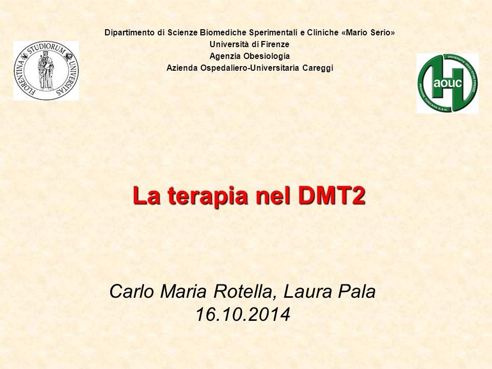 Carlo Maria Rotella, Laura Pala 16.10.2014 La terapia nel DMT2 Dipartimento di Scienze Biomediche Sperimentali e Cliniche «Mario Serio» Università di