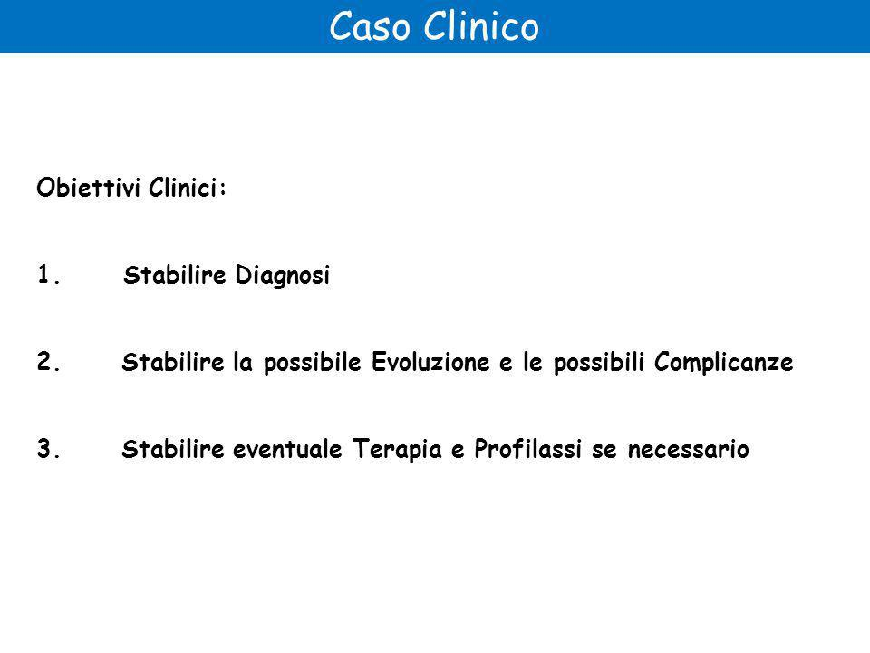 Caso Clinico Obiettivi Clinici: 1.Stabilire Diagnosi 2.
