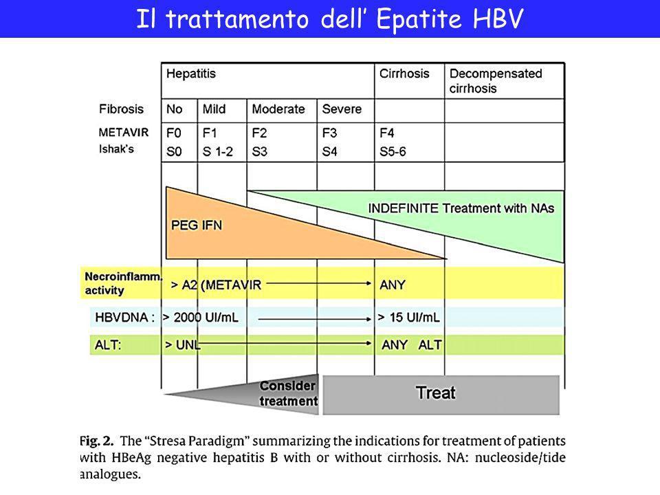 Il trattamento dell' Epatite HBV