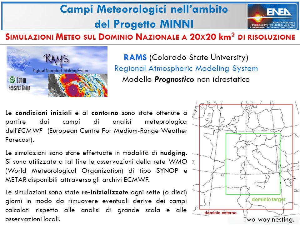 A TTIVITÀ DI V ALIDAZIONE IN CORSO E PREVISTE NEL PROSSIMO FUTURO Validazione dei campi Meteorologici nell'ambito del Progetto MINNI Paper sulla Validazione dei campi meteorologici MINNI 2005 Validazione sui dati delle Regioni del Nord Italia dei campi meteorologici MINNI 2003 e 2007 Paper(s) sulla Validazione dei campi meteorologici MINNI a Trisaia (maggio-giugno 2010)