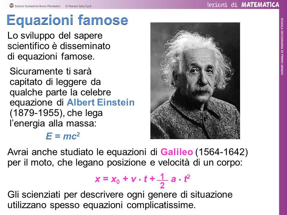 Avrai anche studiato le equazioni di Galileo (1564-1642) per il moto, che legano posizione e velocità di un corpo: Lo sviluppo del sapere scientifico è disseminato di equazioni famose.