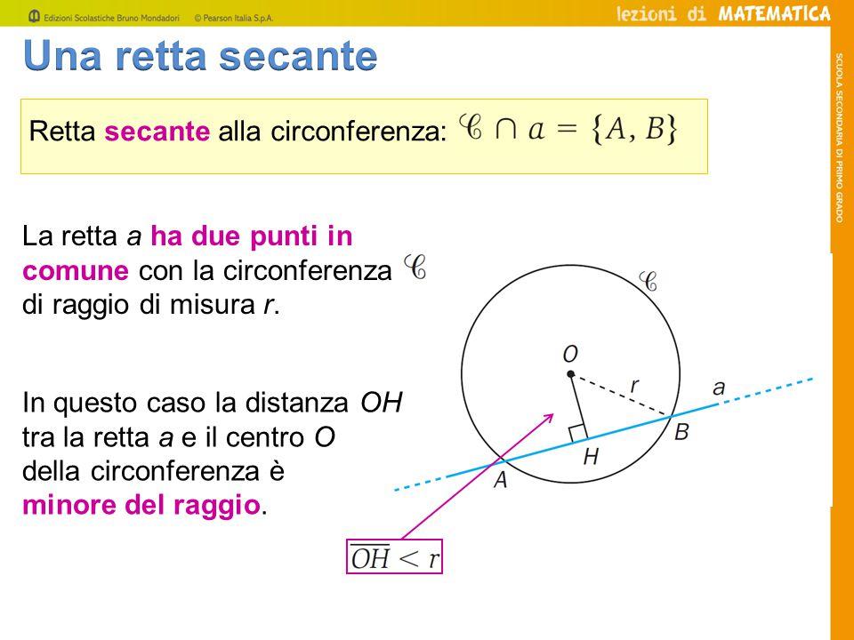 Tracciamo due tangenti alla circonferenza da un punto P esterno alla circonferenza stessa.
