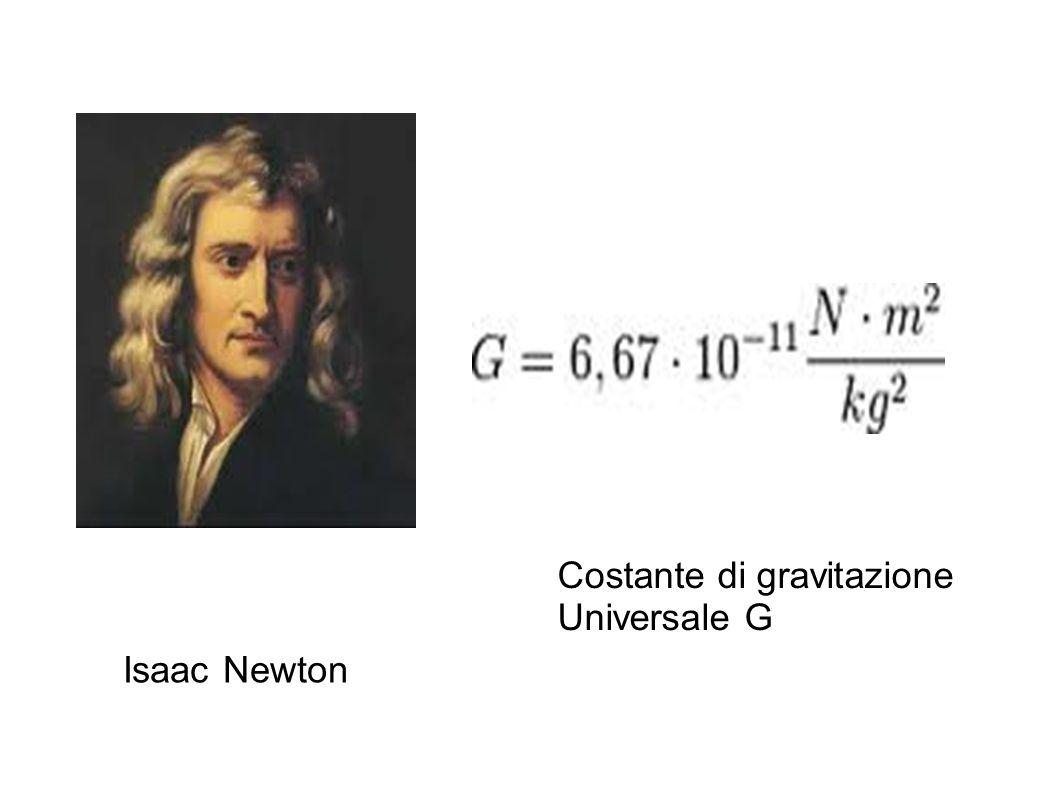 Isaac Newton Costante di gravitazione Universale G