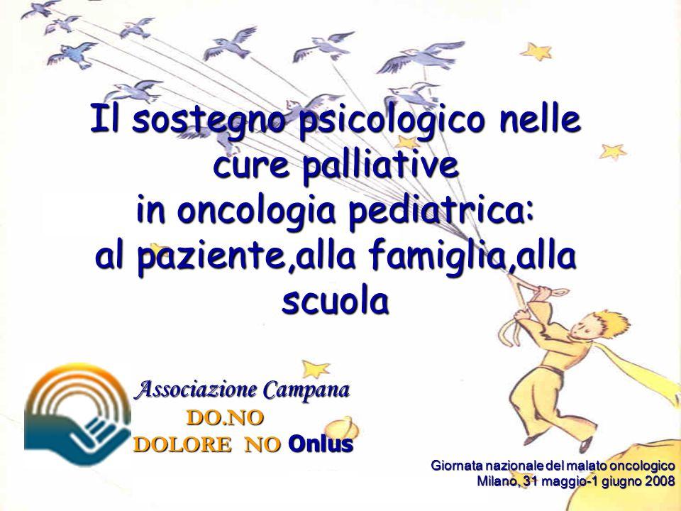 Associazione Campana Associazione Campana DO.NO DO.NO DOLORE NO Onlus DOLORE NO Onlus Giornata nazionale del malato oncologico Giornata nazionale del malato oncologico Milano, 31 maggio-1 giugno 2008