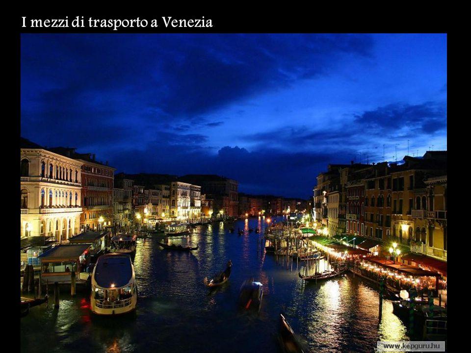 I mezzi di trasporto a Venezia