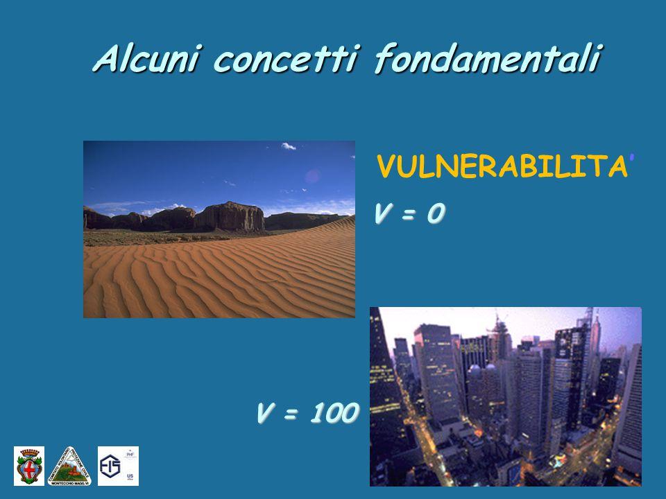 V = 0 V = 100 VULNERABILITA' Alcuni concetti fondamentali