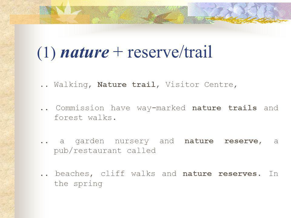 (1) nature + reserve/trail.. Walking, Nature trail, Visitor Centre,..
