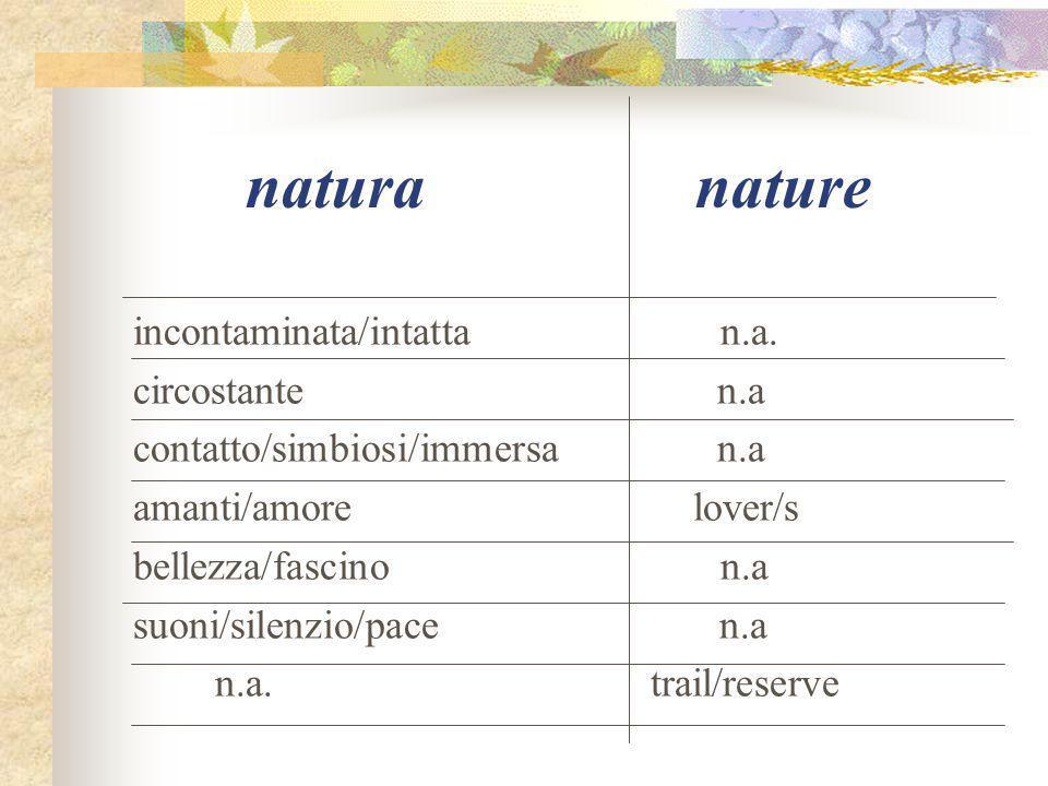 natura nature incontaminata/intatta n.a.