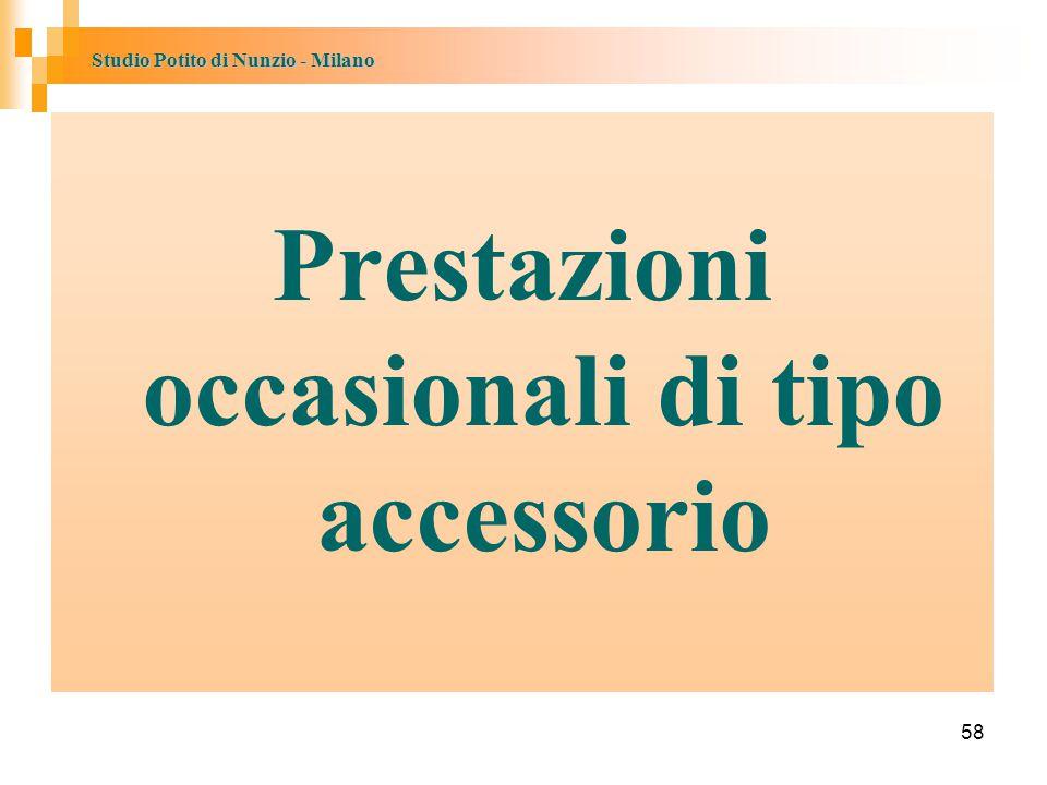 Studio Potito di Nunzio - Milano 58 Prestazioni occasionali di tipo accessorio