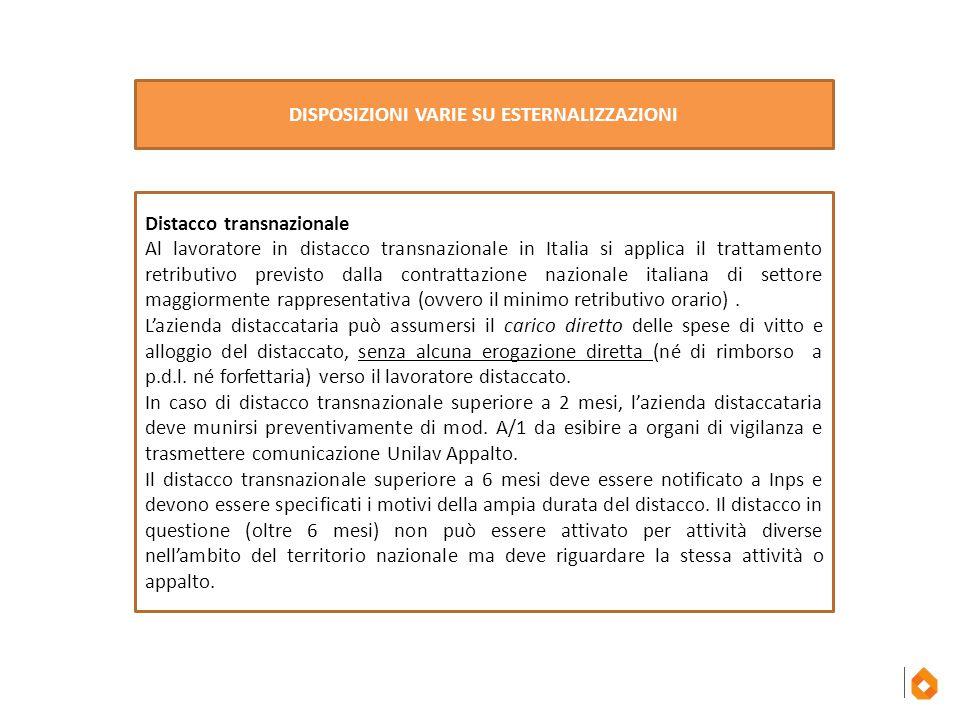 Distacco transnazionale Al lavoratore in distacco transnazionale in Italia si applica il trattamento retributivo previsto dalla contrattazione naziona