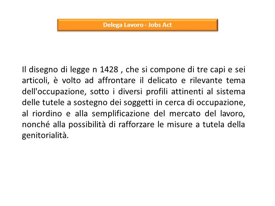 Delega Lavoro - Jobs Act Art.