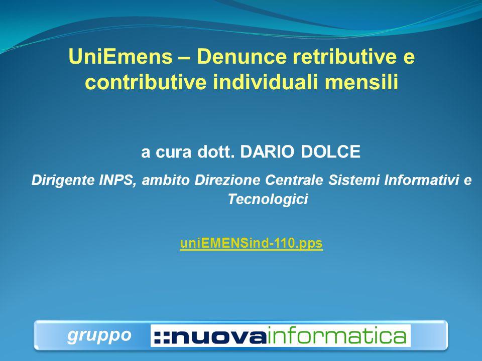 ASSOCONSUL ® UniEmens Denunce retributive e contributive individuali mensili Rovigo, 14 Dicembre 2009