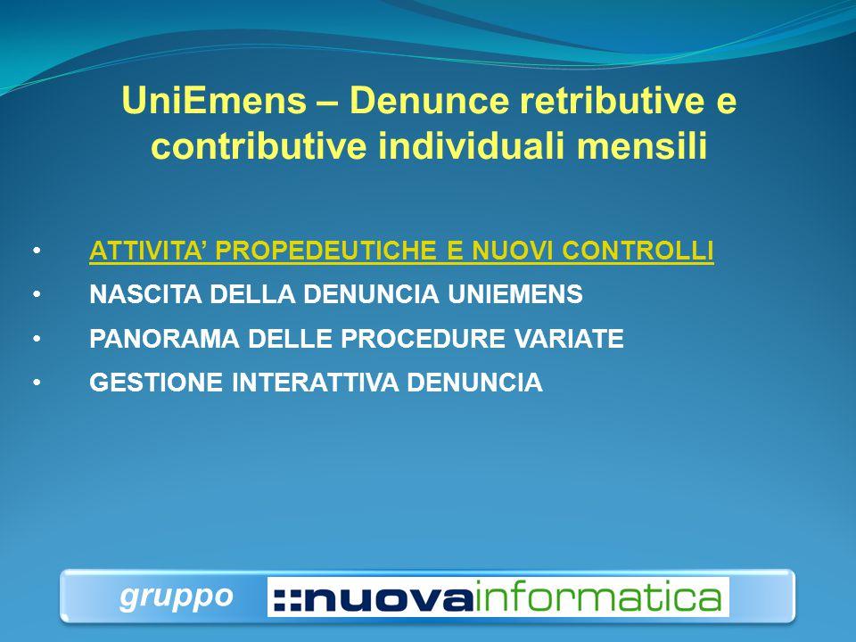 UniEmens – Denunce retributive e contributive individuali mensili a cura dott. DARIO DOLCE Dirigente INPS, ambito Direzione Centrale Sistemi Informati