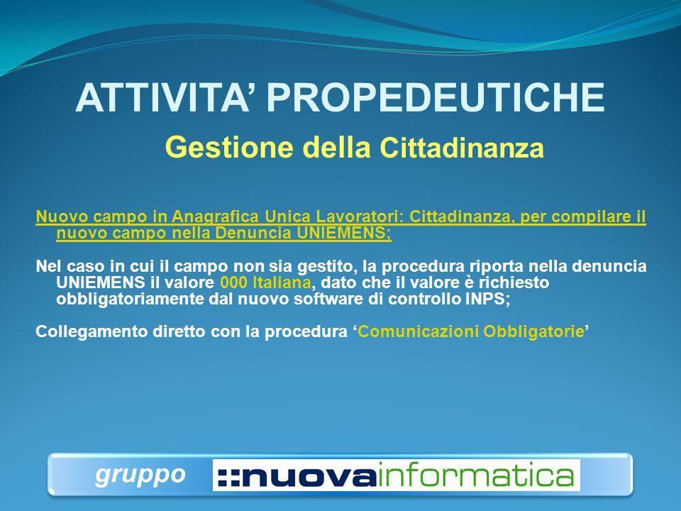 ATTIVITA' PROPEDEUTICHE Gestione Tipo Mittente Nuovo Campo 'Tipo Mittente' nell'archivio 'Dati Mittente per Denunce Retributive Mensili' : prerequisit