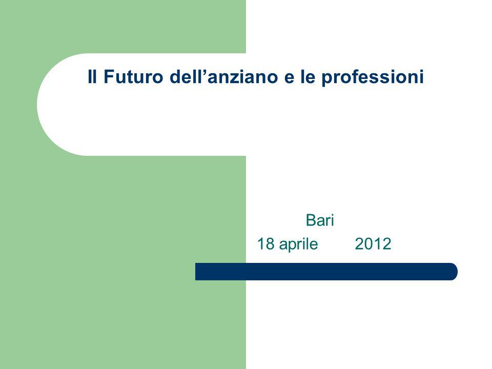 Il Futuro dell'anziano e le professioni Bari 18 aprile2012