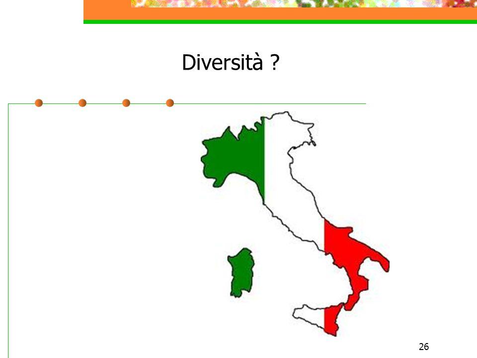 26 Diversità ?