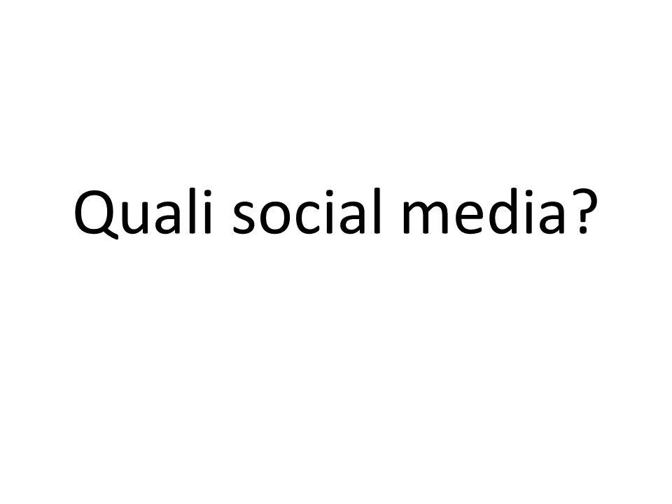 Quali social media?