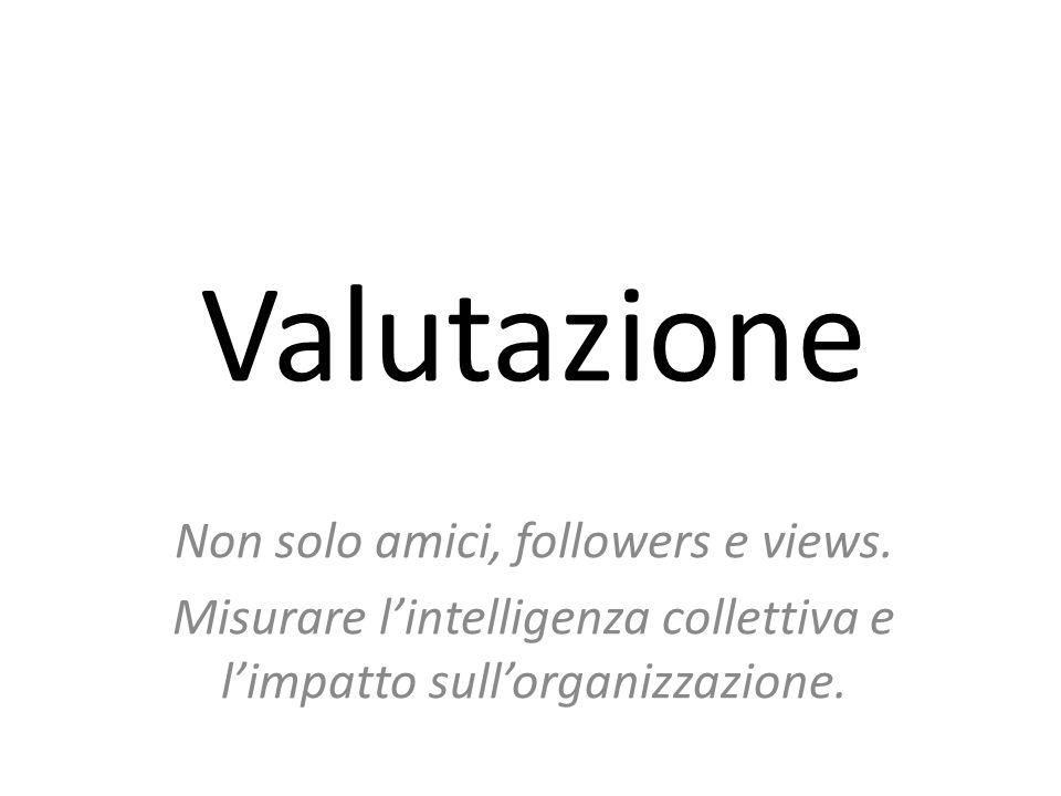 Valutazione Non solo amici, followers e views.