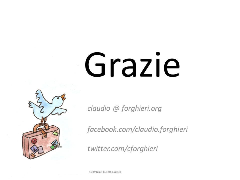 Grazie claudio @ forghieri.org facebook.com/claudio.forghieri twitter.com/cforghieri Illustrazioni di Alessia Bellino
