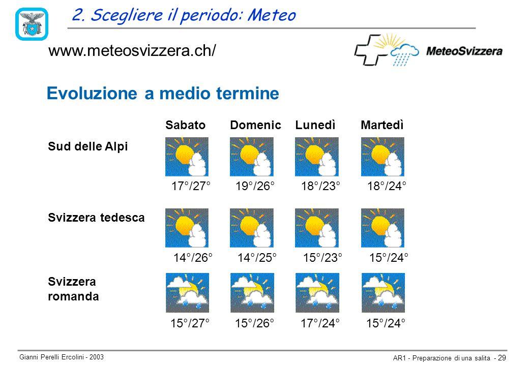 Gianni Perelli Ercolini - 2003 AR1 - Preparazione di una salita - 29 www.meteosvizzera.ch/ 2.