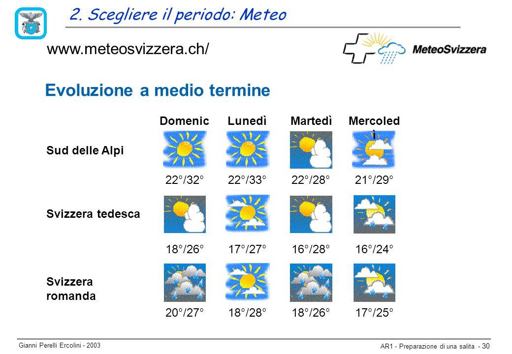 Gianni Perelli Ercolini - 2003 AR1 - Preparazione di una salita - 30 www.meteosvizzera.ch/ 2.